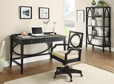 STYLISH CONTEMPORARY BLACK WRITING COMPUTER DESK & CHAIR OFFICE FURNITURE SET
