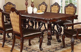 FABULOUS FORMAL PEDESTAL DINING TABLE & CHAIRS DINING ROOM FURNITURE SET