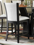 7 PC ESPRESSO GLASS TOP FLARED TULIP COUNTER HEIGHT DINING TABLE & CHAIRS SET