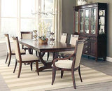 FABULOUS COGNAC FINISH FORMAL DINING TABLE & 6 CHAIRS DINING ROOM FURNITURE SET
