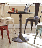 HAND PAINTED RUSTIC IRON BISTRO TABLE & CHAIRS DINING ROOM FURNITURE SET