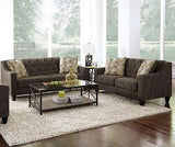 TERRIFIC LOOKING GRAY GREY TWEED LIKE SOFA COUCH LIVING ROOM FURNITURE