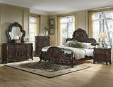 STUNNING VICTORIAN STYLE ORNATE CLAW FEET KING BED BEDROOM FURNITURE