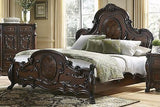 STUNNING VICTORIAN STYLE ORNATE CLAW FEET QUEEN BED BEDROOM FURNITURE