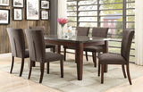 SLEEK DINING TABLE W/ FAUX BLUE STONE MARBLE TOP DINING CHAIRS FURNITURE SET