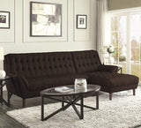 RETRO LOOK LIGHT GRAY TUFTED CHENILLE SOFA SECTIONAL LIVING ROOM FURNITURE SET