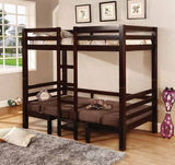 WHITE TWIN LOFT BUNK CONVERSION BED WITH PLAY AREA BEDROOM FURNITURE SET