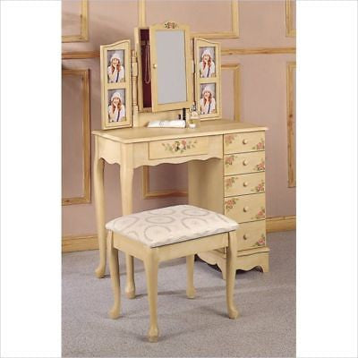 HAND PAINTED PICTURE VANITY DRESSING TABLE u0026 BENCH SET  sc 1 st  Thomu0027s Furniture Treasures & HAND PAINTED PICTURE VANITY DRESSING TABLE u0026 BENCH SET u2013 Thomu0027s ...