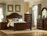 TRADITIONAL QUEEN BED WITH VENEER INLAY FURNITURE