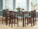 CASUAL COUNTER HEIGHT DINING TABLE & 6 CHAIRS DINING FURNITURE SET
