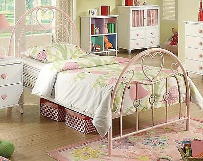 SWEET HEARTS PINK GIRL'S TWIN BED BEDROOM FURNITURE