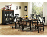 CASUAL COUNTRY BLACK DINING TABLE & CHAIRS DINING ROOM FURNITURE SET