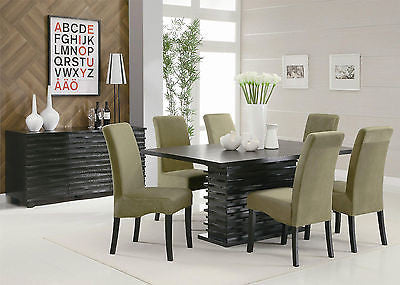 COOL CONTEMPORARY BLACK DINING TABLE & CHAIRS DINING ROOM FURNITURE SET