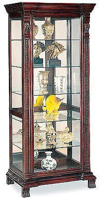 TRADITIONAL CLAW FEET CURIO CABINET FURNITURE