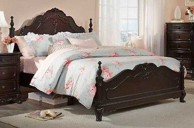 DREAMY CHERRY FINISH QUEEN YOUTH BED BEDROOM FURNITURE