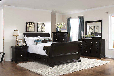 sleek bedroom furniture. sleek 5 pc california king storage sleigh platform bed bedroom furniture set sleek bedroom furniture