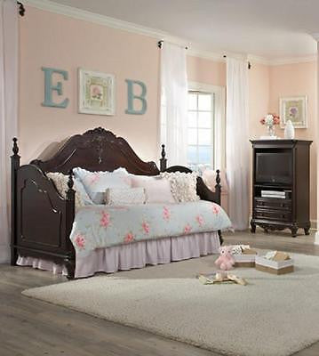 DREAMY CHERRY FINISH TWIN YOUTH DAYBED BEDROOM FURNITURE