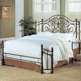 AWESOME ANTIQUE GREEN QUEEN IRON BED BEDROOM FURNITURE