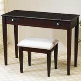 CAPPUCCINO VANITY MIRROR DRESSING TABLE & STOOL BEDROOM FURNITURE SET