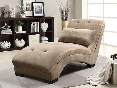 BROWN TEXTURED VELVET CHAISE LOUNGE CHAIR RECLINING CHAIR RECLINER FURNITURE