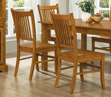MISSION STYLE COUNTRY HARDWOOD DINING TABLE & CHAIRS DINING ROOM FURNITURE SET