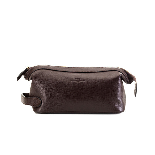 Baron Toilet Bag Brown Leather - rejs med stil