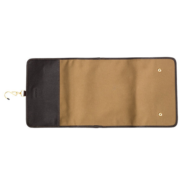 Baron Toilet Bag Hanging Khaki Canvas - Ultra praktisk på rejsen
