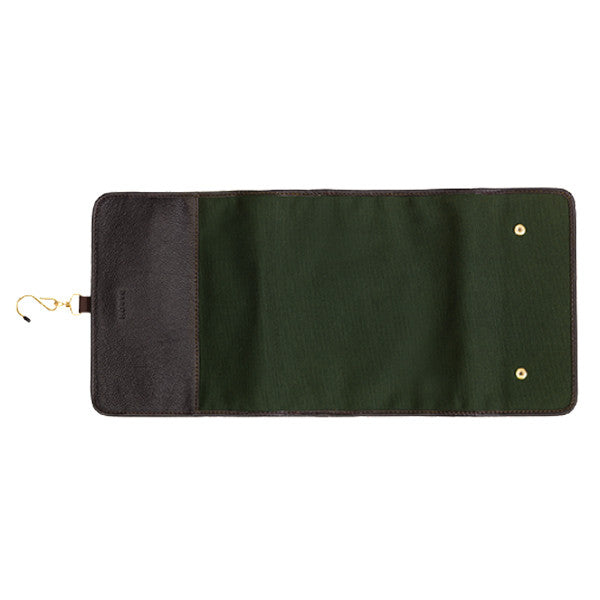 Baron Toilet Bag Hanging Green Canvas - Ultra praktisk på rejsen