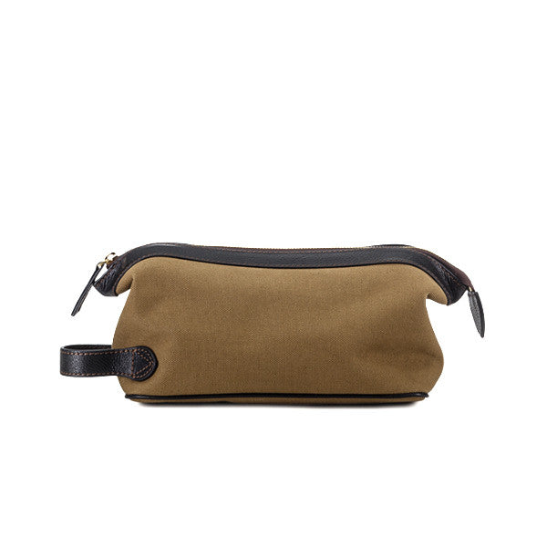Baron Toilet Bag Khaki Canvas - rejs med stil