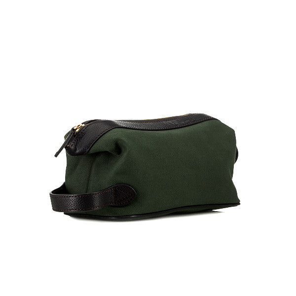 Baron Toilet Bag Green Canvas - rejs med stil