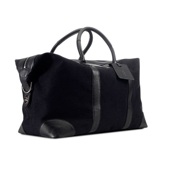 Baron Weekend Bag Large Black Canvas