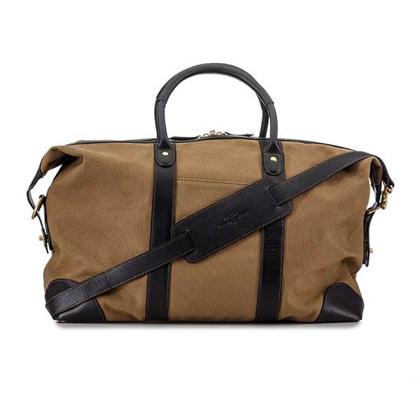 Baron Weekend Bag Khaki Canvas - Perfekte ledsager til weekend tur, picknick og håndbagage i fly