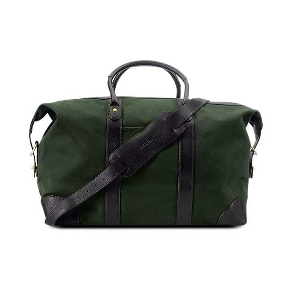 Baron Weekend Bag Green Canvas - Perfekte ledsager til weekend tur, picknick og håndbagage i fly
