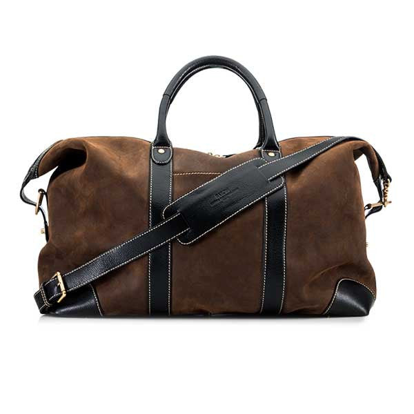 Baron Weekend Bag Brown Suede - Perfekte ledsager til weekend tur, picknick og håndbagage i fly