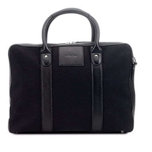 Baron Computer Tote Black Canvas
