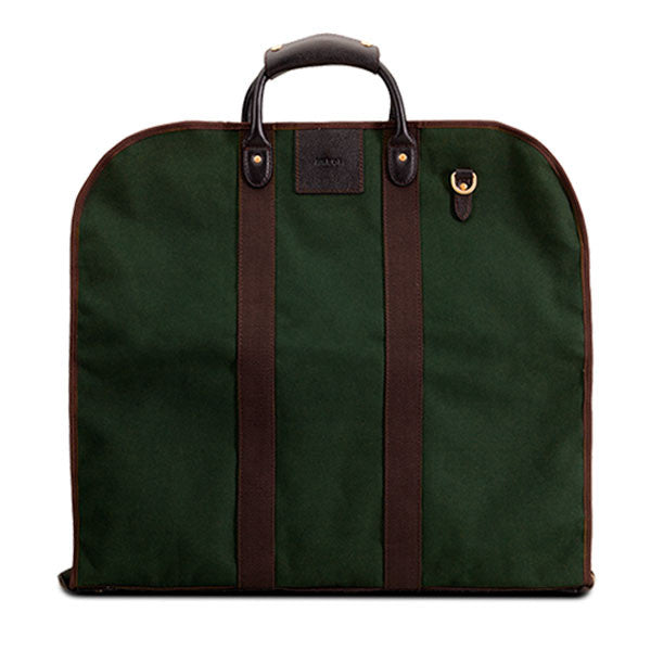 Baron Garment Bag Green Canvas