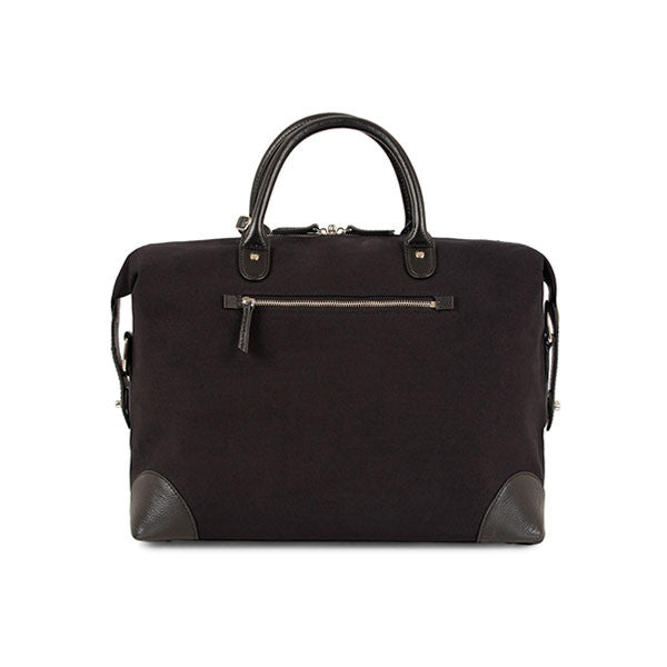Baron Weekend Bag Small Black Canvas
