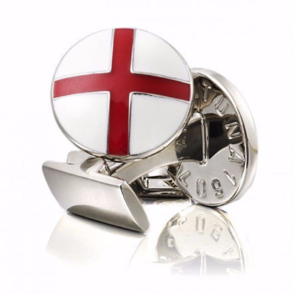 Cufflinks St George Cross White/Red