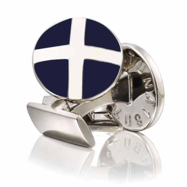 Cufflinks St Andrews Cross Blue/White