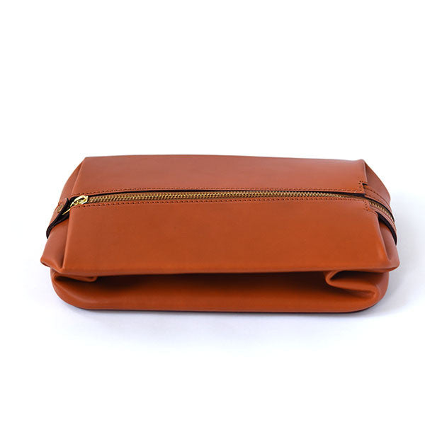 Swaine Adeney Expandable Travel Wash Bag - London Tan