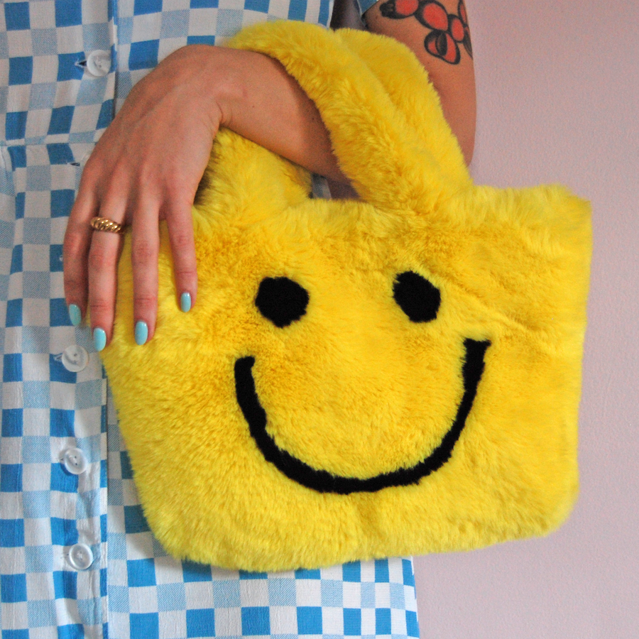 Smiley Purse- yellow :)
