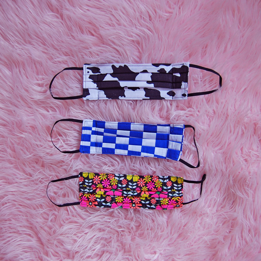 Cow Mask and Scrunchie Set