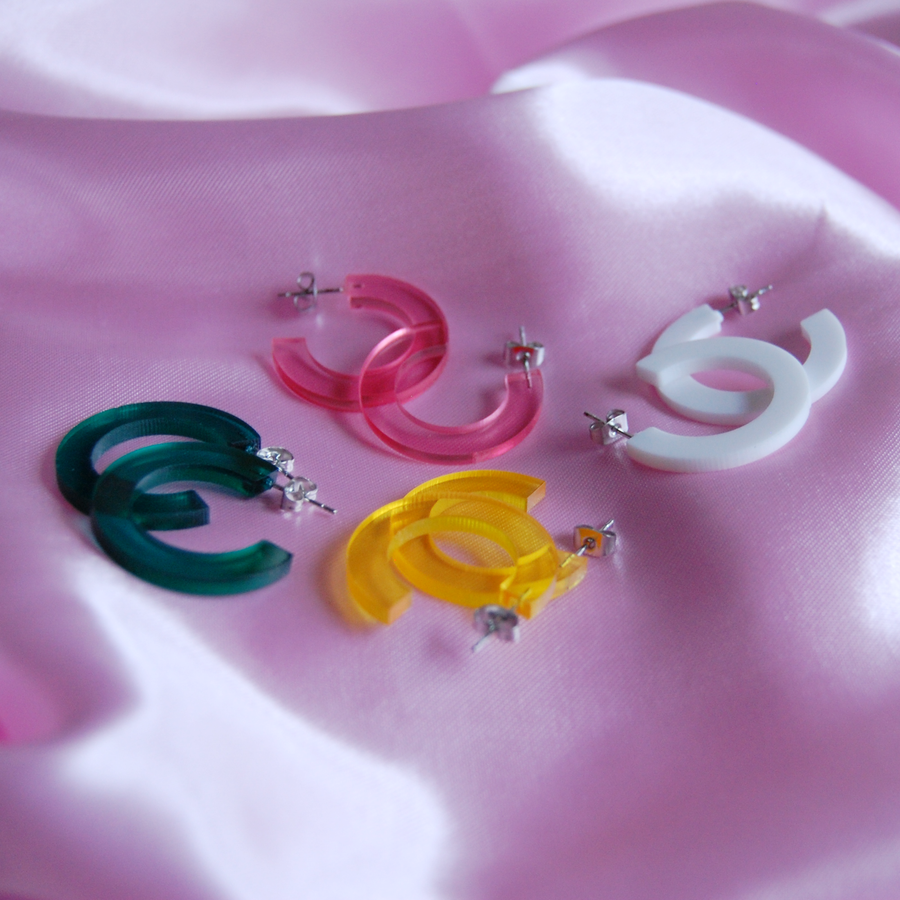 Mini Acrylic Hoops