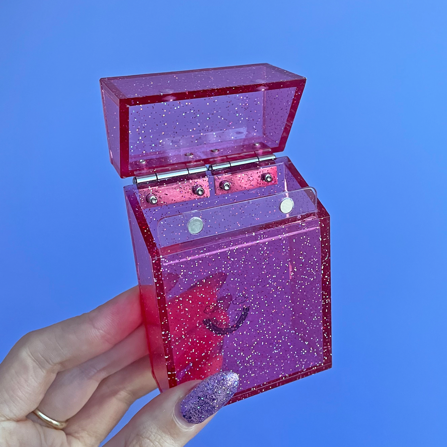 NEW! Glitter Cigarette Box