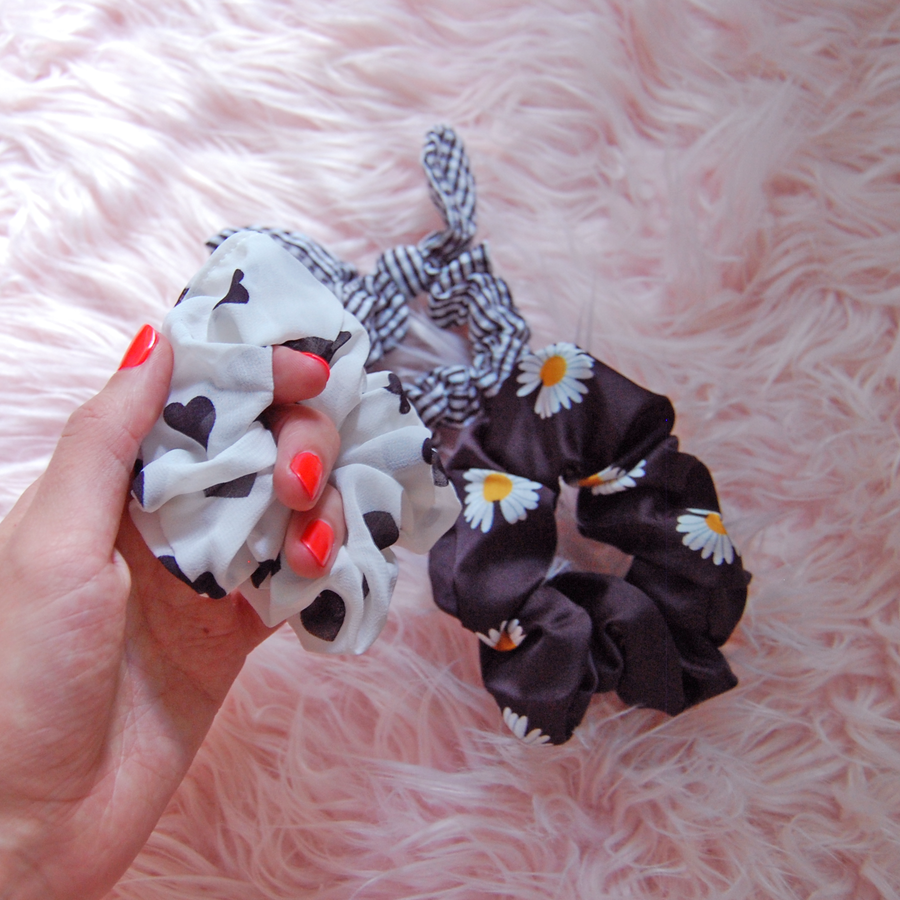 Lolita scrunchie set- Black