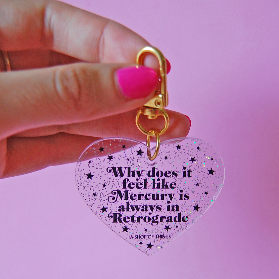 Mercury in Retrograde Keychain
