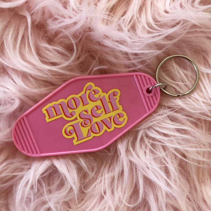 More Self Love keychain