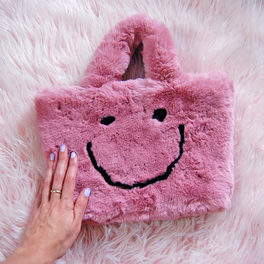 Smiley Purse- pink :)