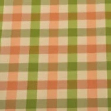 Carreau Check Green Peach Ivory - Endoflinefabrics