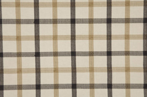 Guildford Plaid Charcoal Fawn White - Endoflinefabrics
